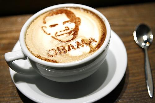 Election Day ::: Obama Coffee Art