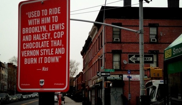 """The Neorevivalist   Jay Shells """"Rap Quote Street Signs"""""""