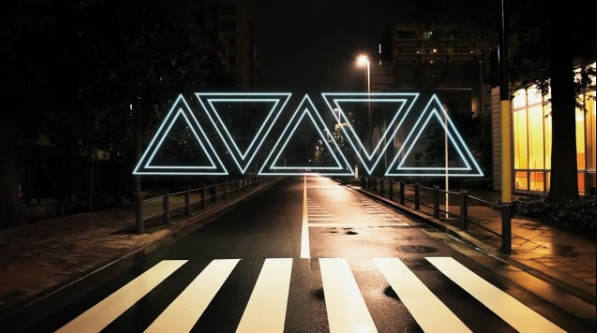 Night Stroll :: Geometric Lightscapes Animated on the Streets of Tokyo by Tao Tajima