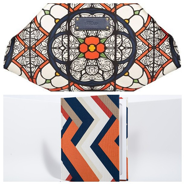 Stache & Hyde Marrakesh Chevron StacheBook pictured with the Alexander McQueen De Manta Stained Glass Clutch